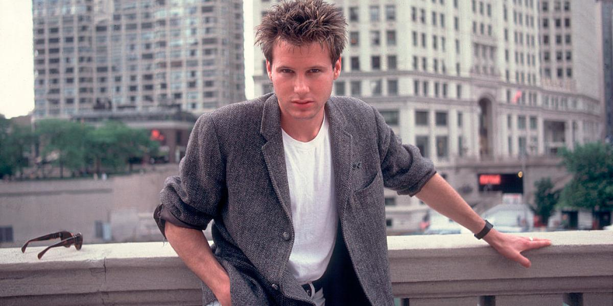 Portrait of singer Corey Hart on the street in Chicago, Illinois, June 12, 1984. (Photo by Paul Natkin/Getty Images)