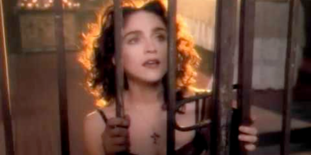 "Madonna in the ""Like a Prayer"" video"