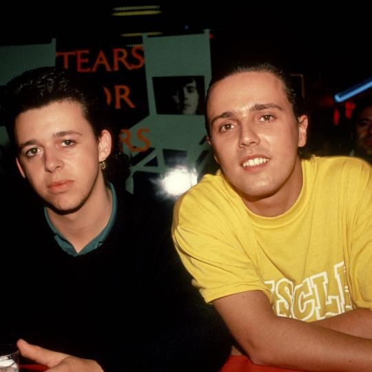 Roland Orzabal and Curt Smith of Tears For Fears circa 1985 in New York City. (Photo by Robin Platzer/IMAGES/Getty Images)