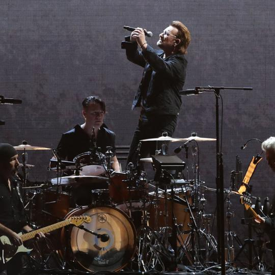 Bono, The Edge, Larry Mullen and Adam Clayton of U2 perform at the SCG on November 22, 2019 in Sydney, Australia. (Photo by Mark Metcalfe/Getty Images)