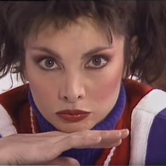 "Toni Basil in the ""Mickey"" video"
