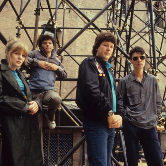 American new wave band Talking Heads (Tina Weymouth, Jerry Harrison, Chris Frantz, David Byrne), Bologna, Italy, 1982. (Photo by Luciano Viti/Getty Images)