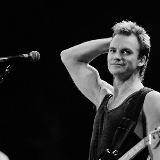 Sting performing in concert at the Bercy in Paris in 1985. (Photo by THIERRY ORBAN/Sygma via Getty Images)