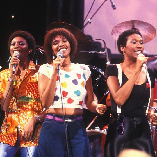 "The Pointer Sisters during Pointer Sisters on ""Midnight Special"" TV Show at NBC Studios in Burbank, California, United States. (Photo by Jeffrey Mayer/WireImage)"