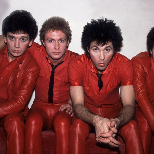 (L-R) Wally Palmar, Rich Cole, Jimmy Marinos and Mike Skill of The Romantics (Photo by Paul Natkin/WireImage)