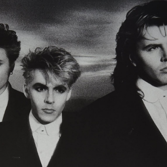 Simon Le Bon, Nick Rhodes and John Taylor of Duran Duran, 1986.