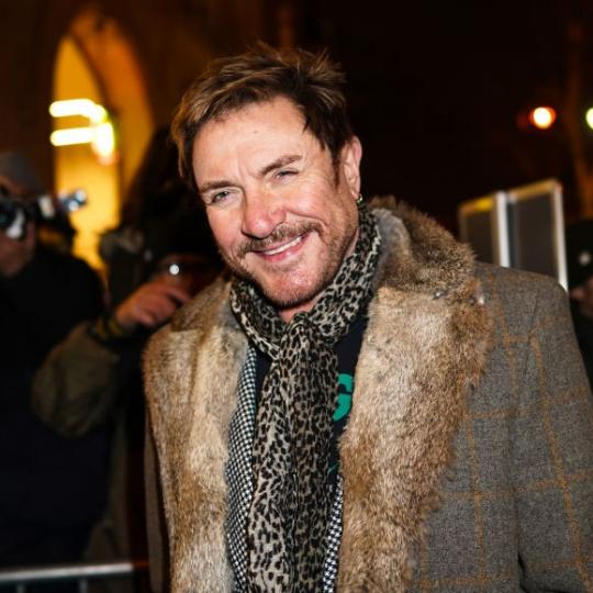 PARIS, FRANCE - JANUARY 22: Singer Simon Le Bon is seen, outside the Jean-Paul Gaultier show, during Paris Fashion Week - Haute Couture Spring/Summer 2020, on January 22, 2020 in Paris, France. (Photo by Edward Berthelot/GC Images )