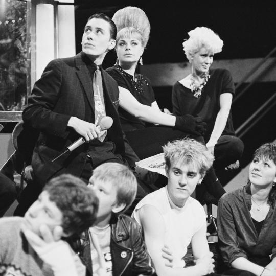 Presenters on 'The Tube': from left, Jools Holland, Mari Wilson, Paula Yates.