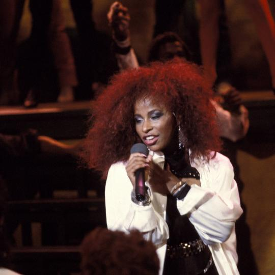 Chaka Khan performs in 1984.