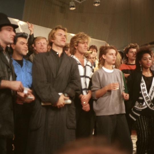 From the Band Aid session, 1984