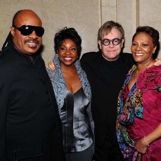Stevie Wonder, Gladys Knight, Elton John and Dionne Warwick in 2011