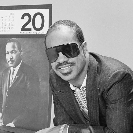 AN ALL-STAR CELEBRATION HONORING MARTIN LUTHER KING JR. -- Pictured: Stevie Wonder -- Photo by: NBCU Photo Bank