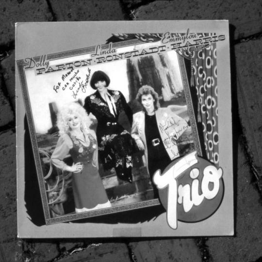 An autographed copy of the 'Trio' album
