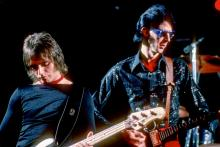 BOSTON, MA- JUNE 1978: Benjamin Orr and Rick Ocasek performing at The Paradise Theater June 29 1978 in Boston MA. (Photo by Ron Pownall/Getty Images)