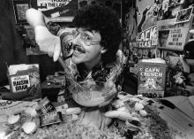 "Just eat it! ""Weird Al"" Yankovic in 1984."