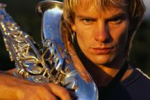 Happy birthday, Sting! We didn't get you a saxophone, because we knew you had one.
