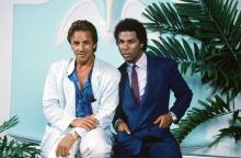 Don Johnson and Phillip Baker Hall in 'Miami Vice'
