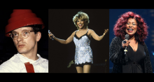 L-R: Mark Mothersbaugh of Devo, Tina Turner, Chaka Khan