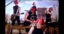 "Devo in the ""Whip It"" video"