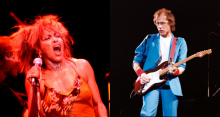 L-R: Tina Turner, Mark Knopfler