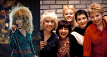 Tina Turner in 1987; The Go-Go's in 1980