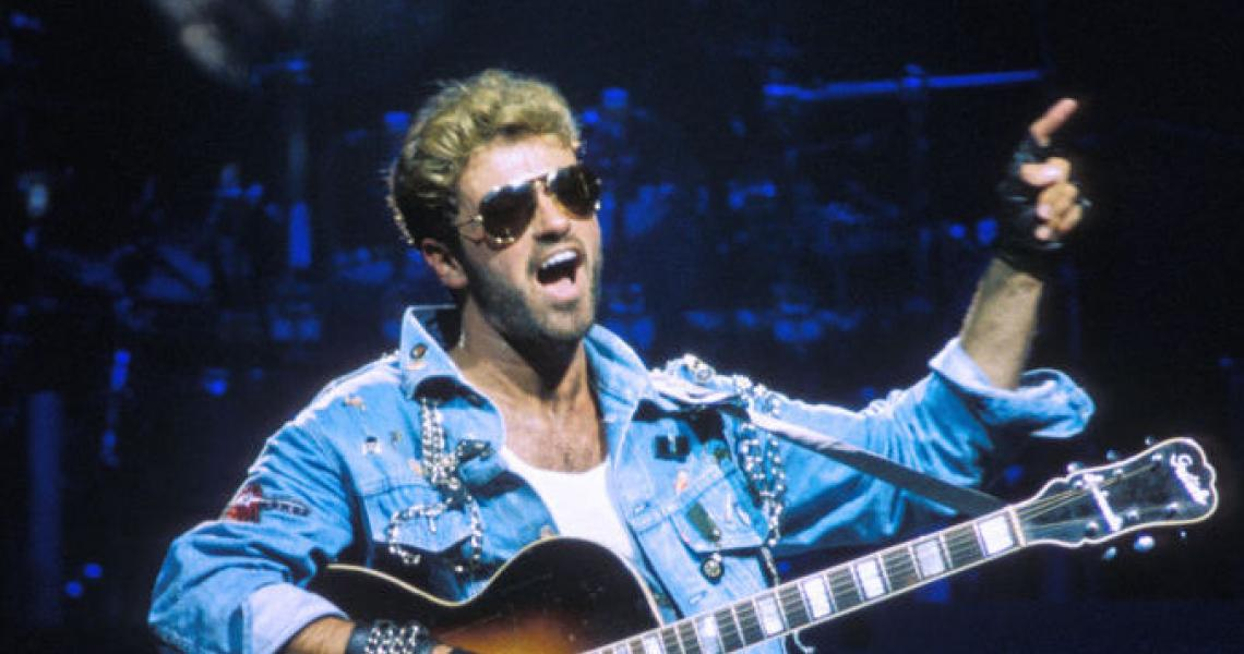 George Michael en concert au Zénith le 19 avril 1988 à Paris, France. (Photo by GARCIA/Gamma-Rapho via Getty Images)