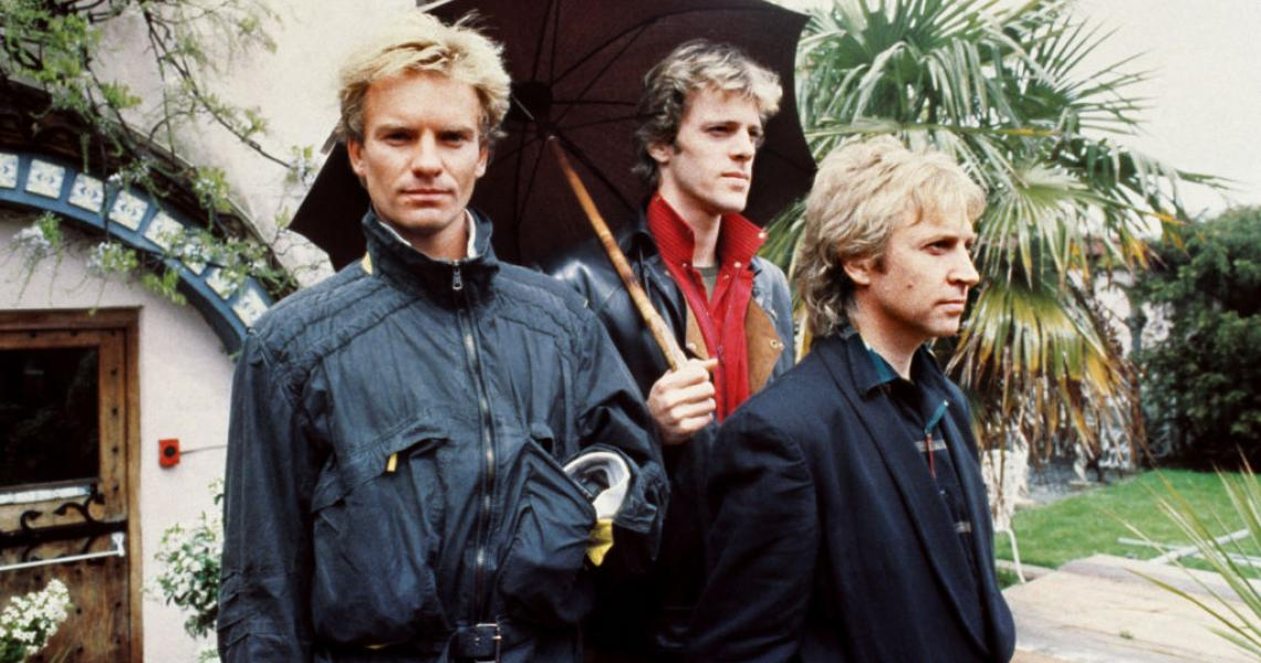 THE POLICE 1983: Rock band The Police, who released their first album for over a year, 'Synchronicity', recently. They are (l-r) Sting (Gordon Sumner), Stewart Copeland and Andy Summers. (Photo by PA Images via Getty Images)