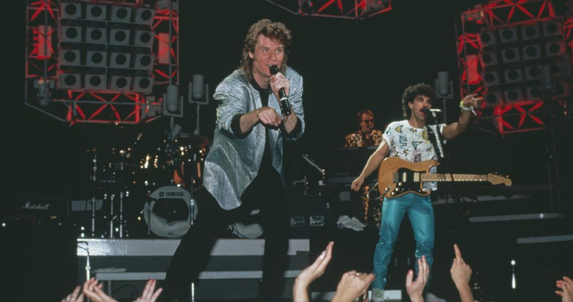 Hall and Oates perform in 1984.
