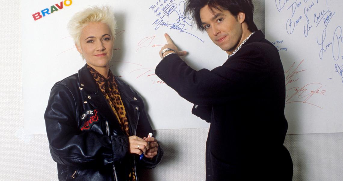 Marie Fredriksson and Per Gessle of Roxette