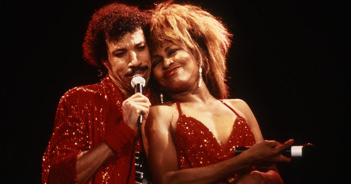 Lionel Richie and Tina Turner, both Grammy winners in 1985