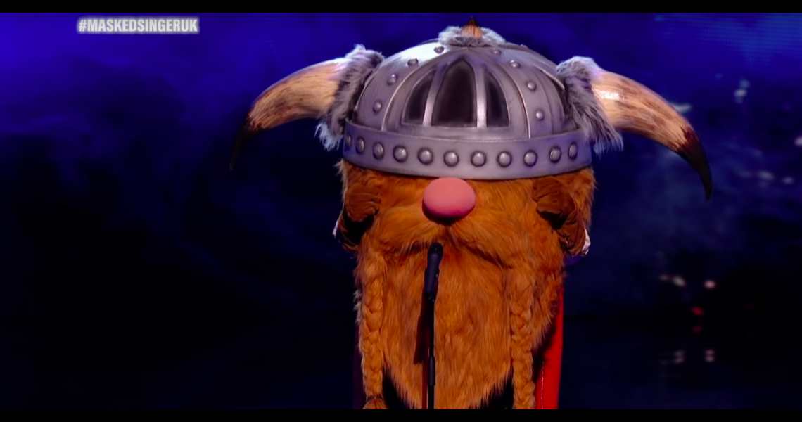 The Viking performs on 'The Masked Singer'